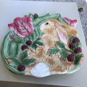 Fitz and Floyd Bunny Plate